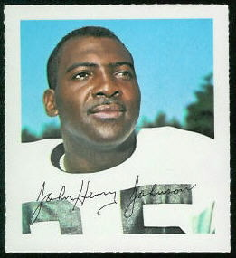 John Henry Johnson 1964 Wheaties Stamps football card