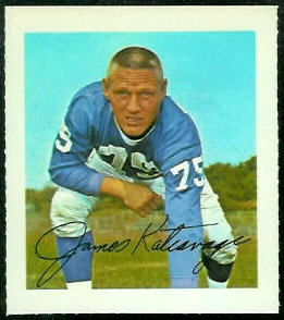 Jim Katcavage 1964 Wheaties Stamps football card