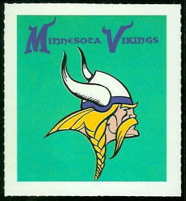 Vikings emblem 1964 Wheaties Stamps football card