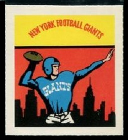Giants emblem 1964 Wheaties Stamps football card