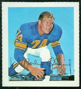 Merlin Olsen 1964 Wheaties Stamps football card