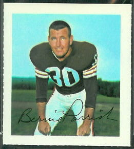 Bernie Parrish 1964 Wheaties Stamps football card