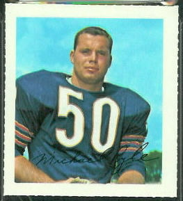 Mike Pyle 1964 Wheaties Stamps football card
