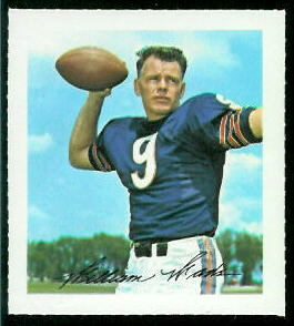 Bill Wade 1964 Wheaties Stamps football card