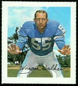 Wayne Walker 1964 Wheaties Stamps football card