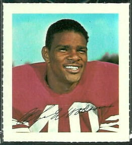 Abe Woodson 1964 Wheaties Stamps football card