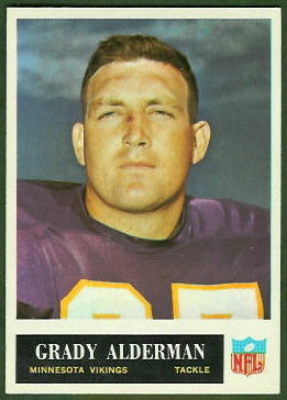 Grady Alderman 1965 Philadelphia football card