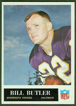 Bill Butler 1965 Philadelphia football card