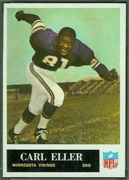 Carl Eller 1965 Philadelphia football card