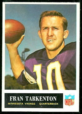 Fran Tarkenton 1965 Philadelphia football card