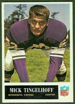 Mick Tingelhoff 1965 Philadelphia football card