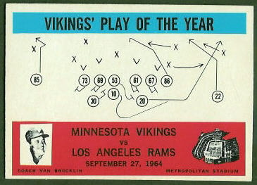 Vikings Play of the Year 1965 Philadelphia football card