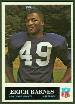 Erich Barnes 1965 Philadelphia football card