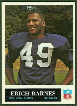 Erich Barnes 1965 Philadelphia football card