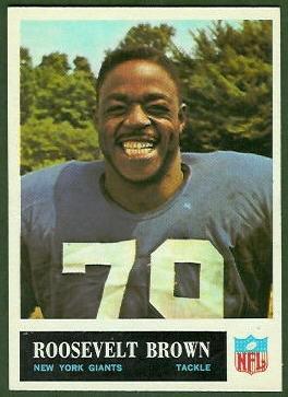 Roosevelt Brown 1965 Philadelphia football card