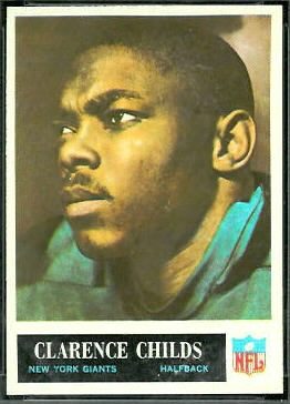 Clarence Childs 1965 Philadelphia football card