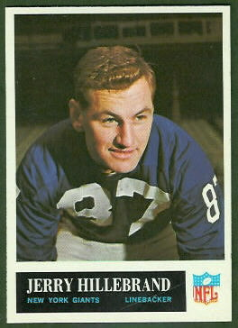 Jerry Hillebrand 1965 Philadelphia football card