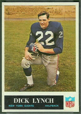 Dick Lynch 1965 Philadelphia football card