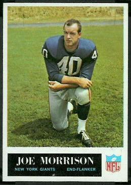 Joe Morrison 1965 Philadelphia football card