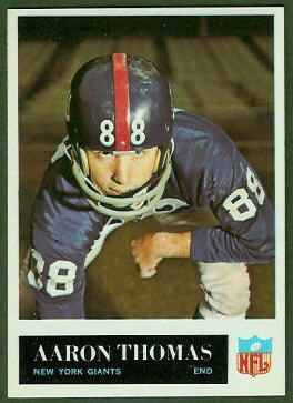 Aaron Thomas 1965 Philadelphia football card