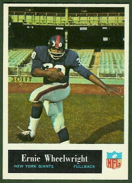 Ernie Wheelwright 1965 Philadelphia football card