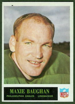 Maxie Baughan 1965 Philadelphia football card
