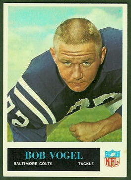 Bob Vogel 1965 Philadelphia football card