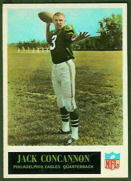 Jack Concannon 1965 Philadelphia football card