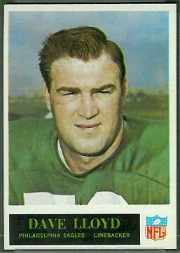 Dave Lloyd 1965 Philadelphia football card