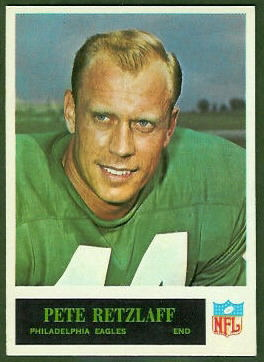 Pete Retzlaff 1965 Philadelphia football card