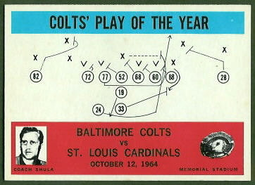 Colts Play of the Year 1965 Philadelphia football card