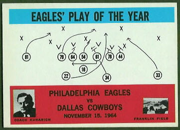 Eagles Play of the Year 1965 Philadelphia football card