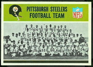 Pittsburgh Steelers Team 1965 Philadelphia football card