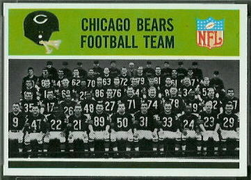 Chicago Bears Team 1965 Philadelphia football card