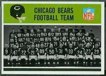 Chicago Bears Team 1965 Philadelphia football card