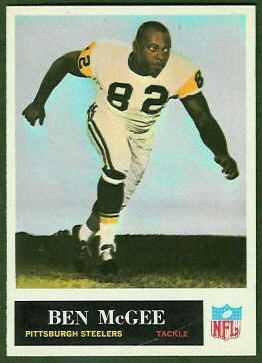 Ben McGee 1965 Philadelphia football card