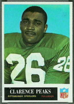Clarence Peaks 1965 Philadelphia football card