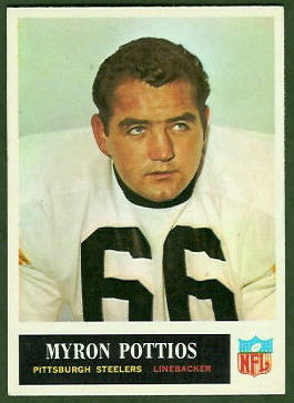 Myron Pottios 1965 Philadelphia football card