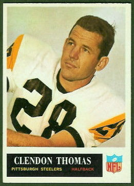 Clendon Thomas 1965 Philadelphia football card