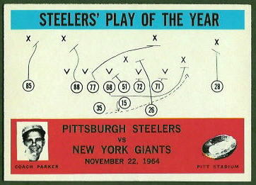 Steelers Play of the Year 1965 Philadelphia football card