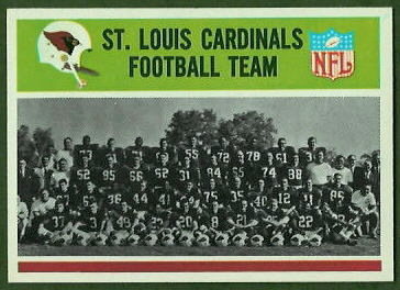 St. Louis Cardinals Team 1965 Philadelphia football card
