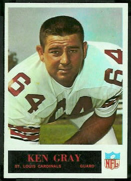 Ken Gray 1965 Philadelphia football card