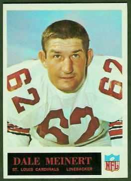 Dale Meinert 1965 Philadelphia football card
