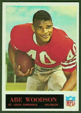 Abe Woodson 1965 Philadelphia football card