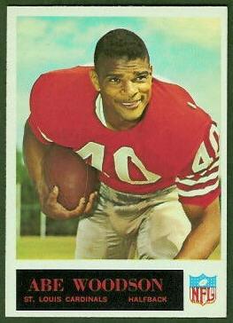 Abe Woodson 1965 Philadelphia football card