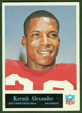 Kermit Alexander 1965 Philadelphia football card