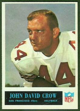 John David Crow 1965 Philadelphia football card