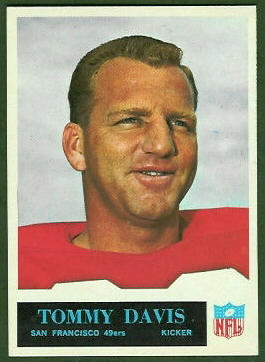 Tommy Davis 1965 Philadelphia football card