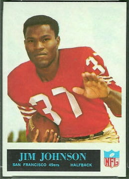 Jim Johnson 1965 Philadelphia football card