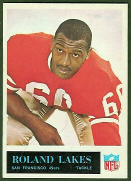 Roland Lakes 1965 Philadelphia football card